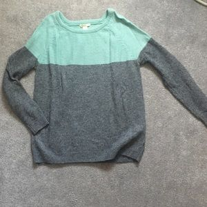 Forever 21 grey and mint colored sweater